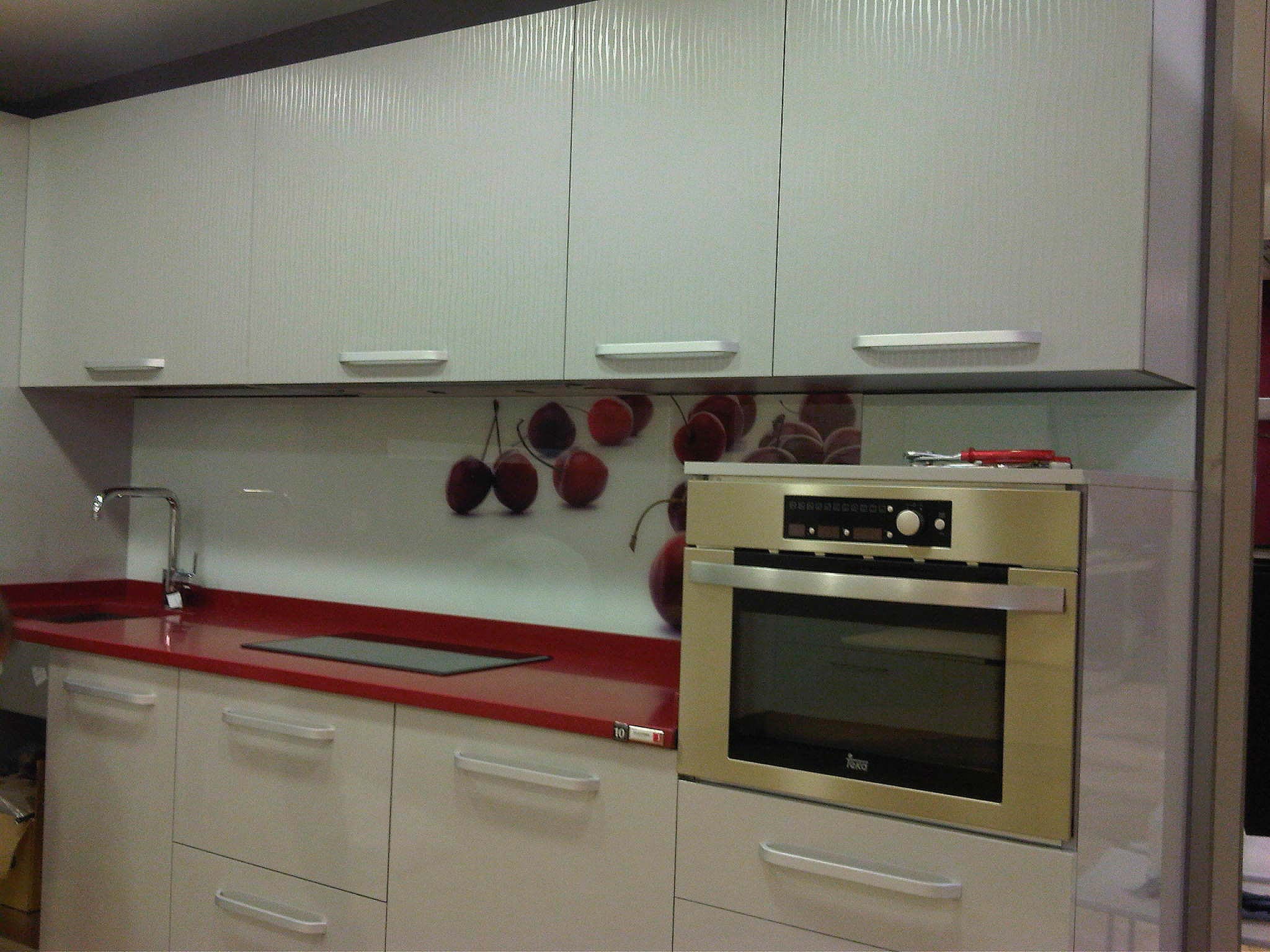 Decoraci n cocinas personalizadas luminosos arga - Frente cocina cristal ...